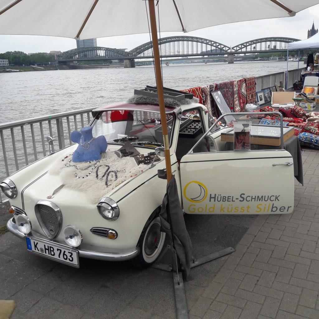 Kunst und Antikmarkt am Kölner Rheinufer – das Goggo präsentiert eine feine Auswahl Hübel-Schmuck – 26. und 27. Juni 2021